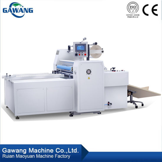 Continuous Computerized High Laminating-Speed Pre-Glued Thermal BOPP Film Laminating Machine with Oil Heating System