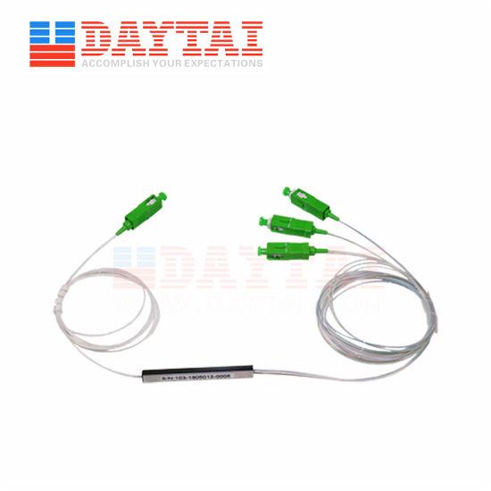 0.9mm Fiber Optic Mini Type 1X3 PLC Splitter