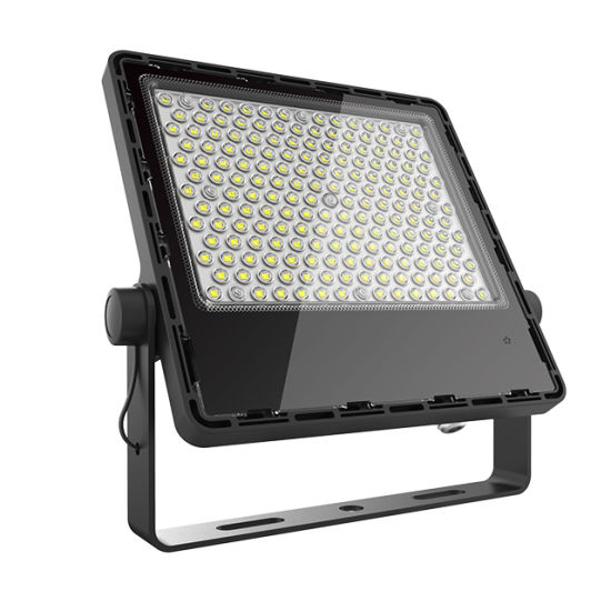 50W 100W 150W 200W IP65 Waterproof PC/Al Material Flat LED Flood Light for Outdoor Garden Street Landscape with Cheap Price