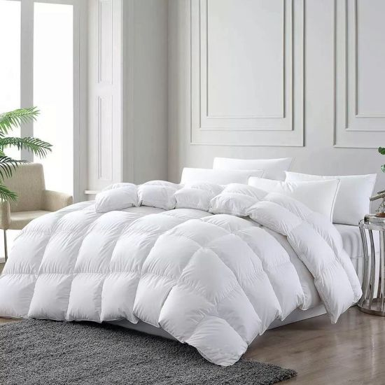 Luxury White Duck Down Feather Filling Bedding Quilts Duvets
