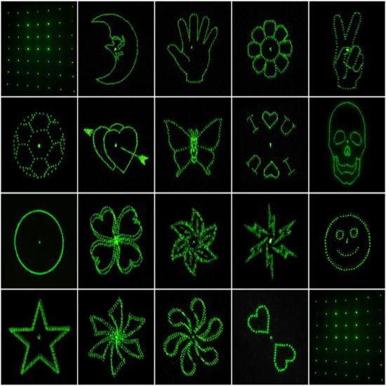 Wholesale 20 Patterns for Light Optical Filter Plastic Laser Focus DOE Grating Lens