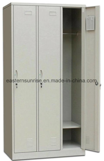 Changing Room Use 3 Door Metal Steel Iron Clothe Locker pictures & photos