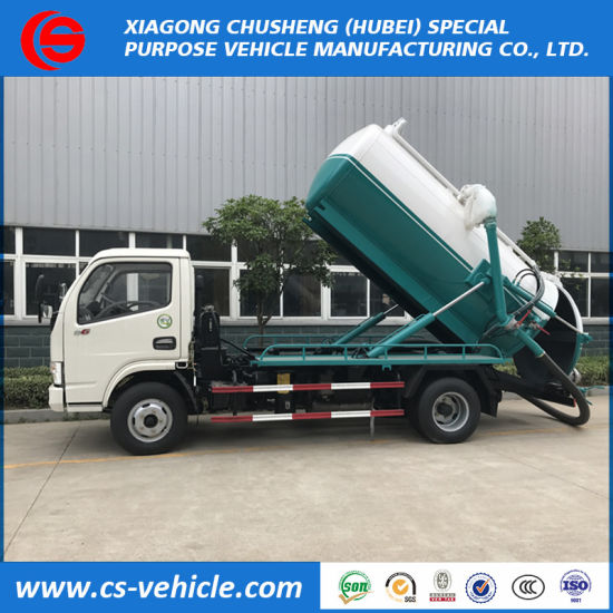 Sino Truck Small 5000L Vacuum Sewage Suction Truck