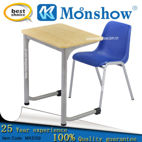 Plastic Chair with Study Desk for School Furniture