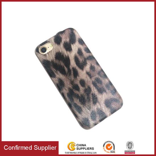Luxury Leopard Parttern PU Customized Mobile Phone Case