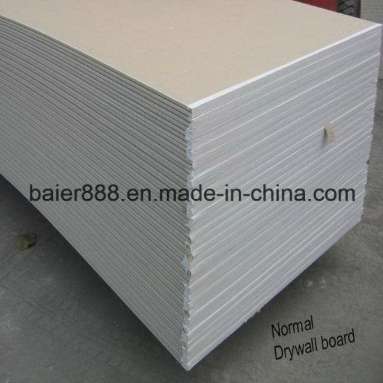 Black Gypsum Board : China paper faced drywall plasterboard gypsum board for