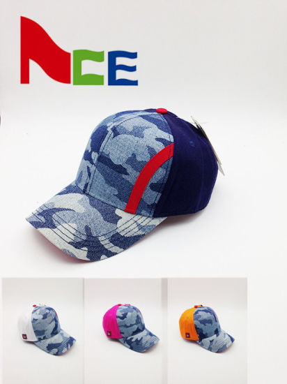 ODM Custom Design Cotton Unisex Adult Camouflage Fabric Baseball Cap a497df381625