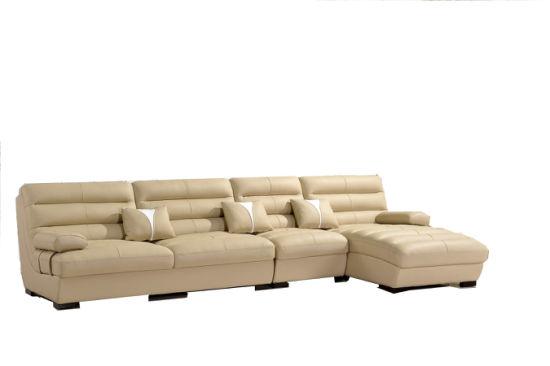 China Cheap Bonded Leather Corner Sofa - China Leather Sofa ...