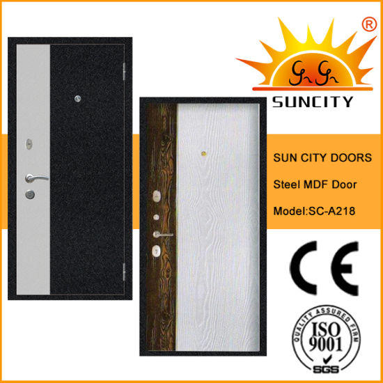 Hot New MDF Inside Wood Material Steel Door
