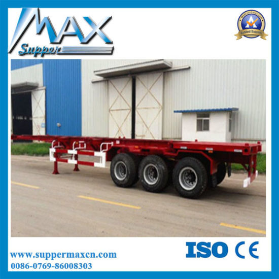 Container Chassis Trailer Fram for Container Transport Semi Trailer pictures & photos