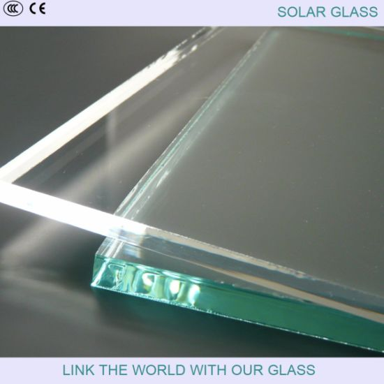 4mm Extra Clear Prismatic Patterned Glass for Solar Collector pictures & photos