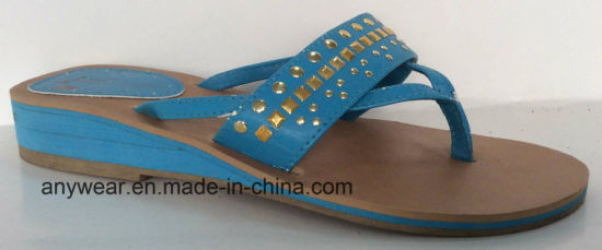 Ladies Fashion Flip Flop Slippers (515-6903) pictures & photos