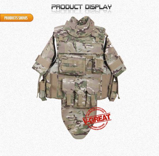 Millitary Police Bulletproof Body Armor Aramid Combat Vest V-PRO053