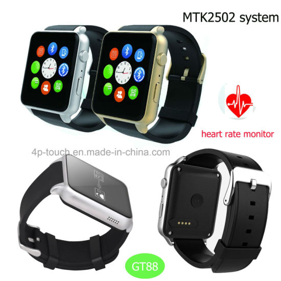 China Hot Selling Gt88 Smart Watch with Heart Rate Monitor