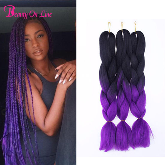 Ombre Kanekalon Braiding Hair Xpression Jumbo Braid Extensions Synthetic Hairpiece