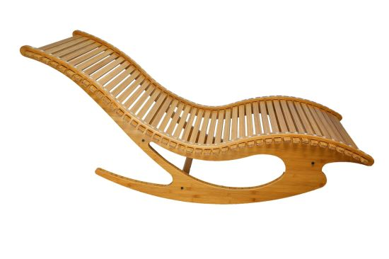 Hotel/Garden Furniture Bamboo Elastic Rocking Chair