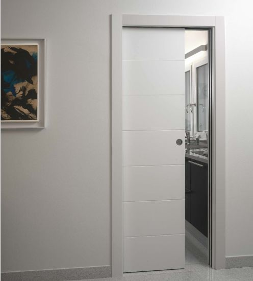 China Attractive Design Interior White Mdf Doors For Villa Hotel