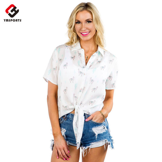 Hawaiian Shirt Custom Casual Shirts for Women pictures & photos