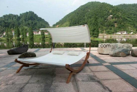 Wood Frame Outdoor Leisuer Double Hammock Chair