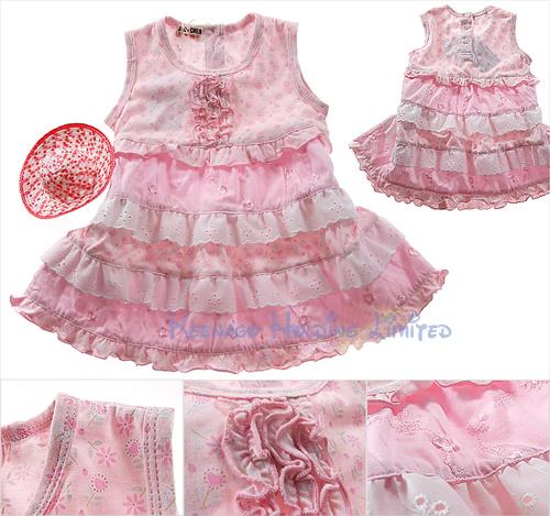 Zaxwear OEM Hot Selling Lovely Infant Apparel/ Toddler Dress
