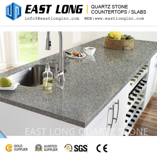 China Artificial Granite Color Quartz Stone Countertops For Vanity