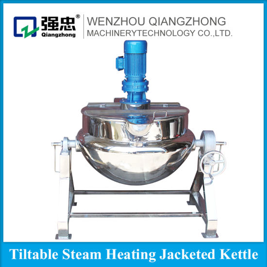China Food Processing Machinery Steel Cooking Steam Jam Boiler ...
