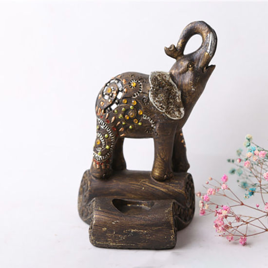 Wholesale Tabletop Elephant on Stock Resin Statue Decoration Home Decoration