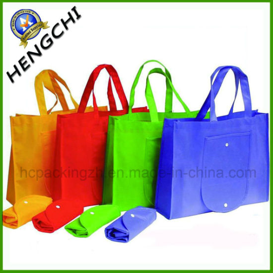 China Hot Sale Folded Non Woven Shopping Bag for Promotion
