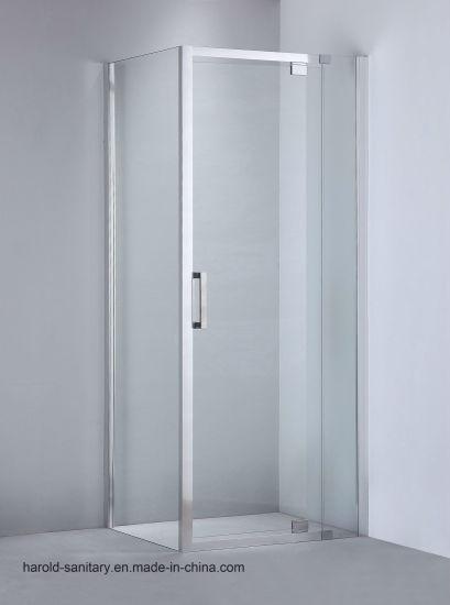 china glass shower enclosure pivot hinge open max 130mm adjustment
