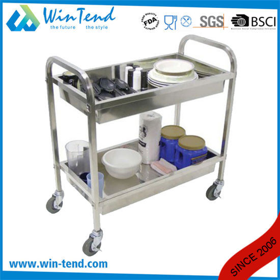 Stainless Steel Catering Serving Food Trolley pictures & photos