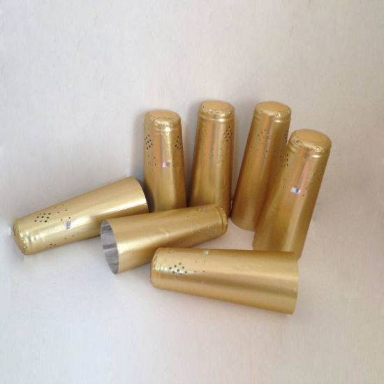 Aluminum Foil Golden Champagne Lid Wine Bottle Capsules