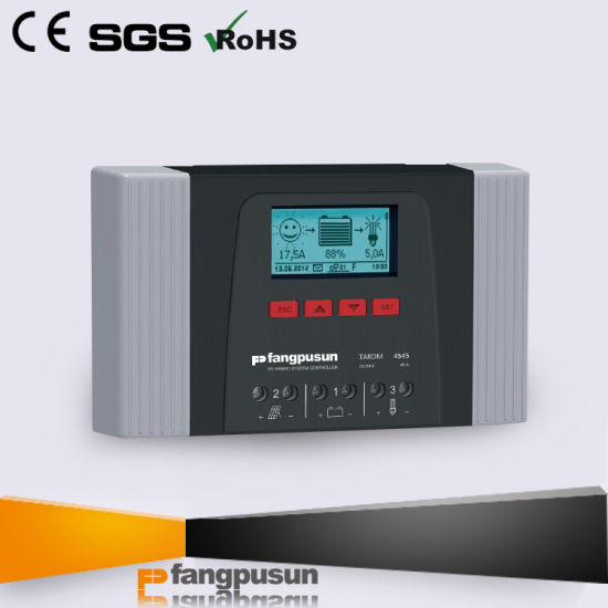 New Generation Fangpusun Tarom4545 Intelligent 12V 24V LCD Display Solar Battery Charge Controller 45A with Datalogger