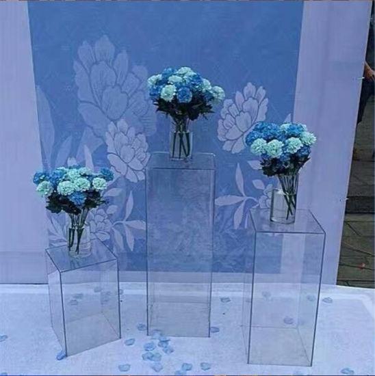 China Tall Modern Acrylic Wedding decoration Flower Stands - China ...