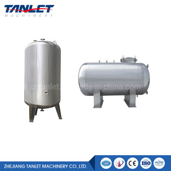 SUS304 or 316L Food Grade Stainless Steel Heated Tank Cold/Hot Water Tank