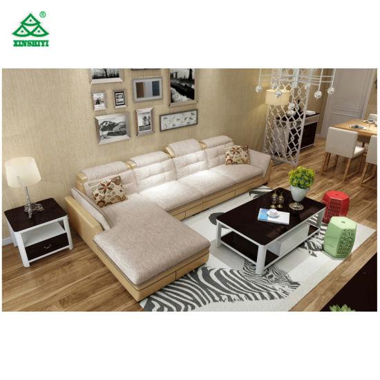 Contemporary Reception Living Room Sofa Set L Shaped Sofa Large Size Eco    Friendly