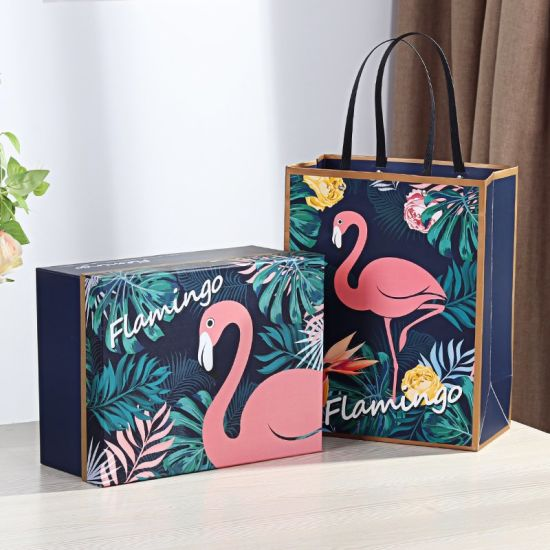 Upscale Wholesale Custom Party Gifts Printing Flamingo Paper Box pictures & photos