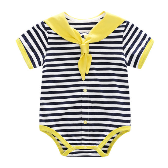 Navy Uniform Style Colourful Children Clothing Summer Baby Romper Clothing pictures & photos