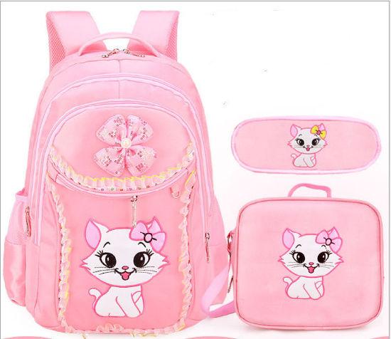 cda3a3a85f China 1-3-6th Grade Set School Backpack Pupil Girl′s Kitty School ...