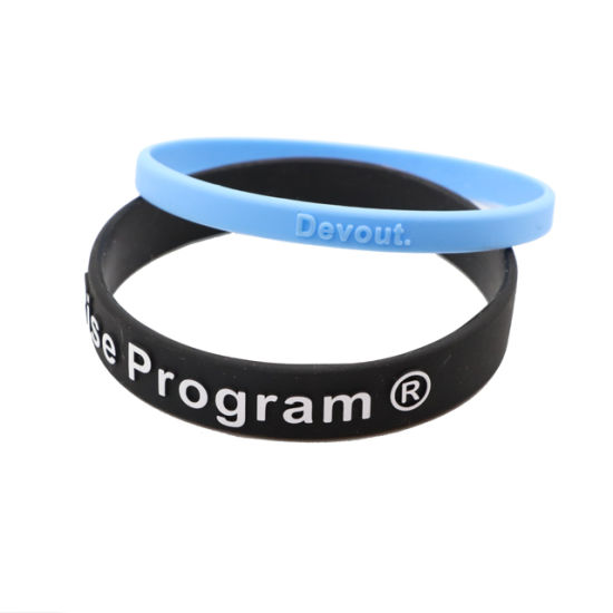 Customized Flag Silicone Rubber Wristband Bracelet Manufacturer Of Wrist Band Bangles Custom Your Own Logo