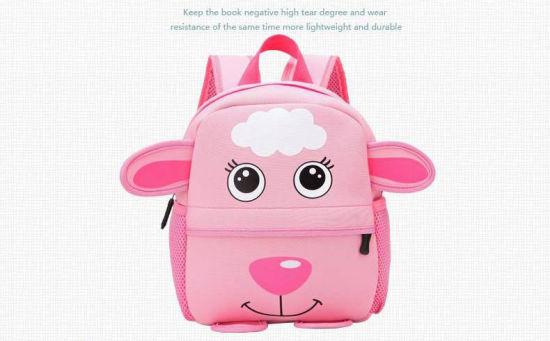 0aed96bbc9e5 Neoprene Children 3D Kids Bag Cute Animal Design Backpack Toddler Kid  School Bags Kindergarten Cartoon Bag Giraffe Monkey Owl