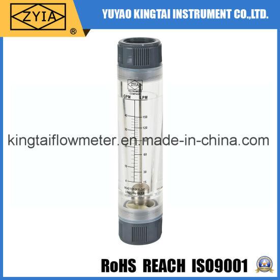 """Female 1.5""""Bsp Acrylic Inline Feed Water Flow Meter"""