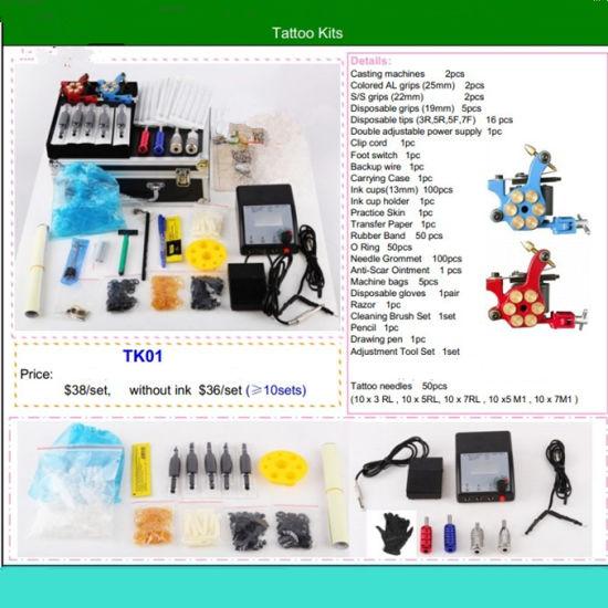 China High Quality Tattoo Kit Machine Complete Tattoos Kit Power ...