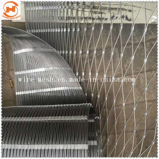 Stainless Steel Wire Rope Mesh Fence/Zoo Mesh Fence