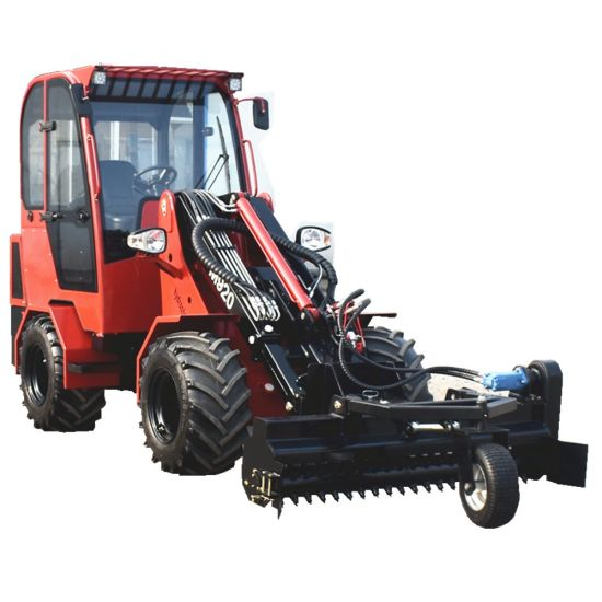 Ditching Machine New Front Wheel Loader with Hydraulic Trencher for Wire Burying