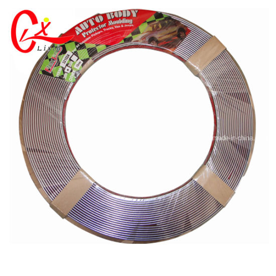 Self Adhesive Car Styling Moulding Strip Chrome Trim S Size Avaliable 6mm x 15M