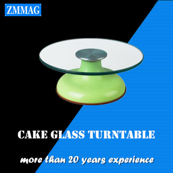 Wholesale Glass Cake Stand Stands Decorating Supplies (ZMCT-G)