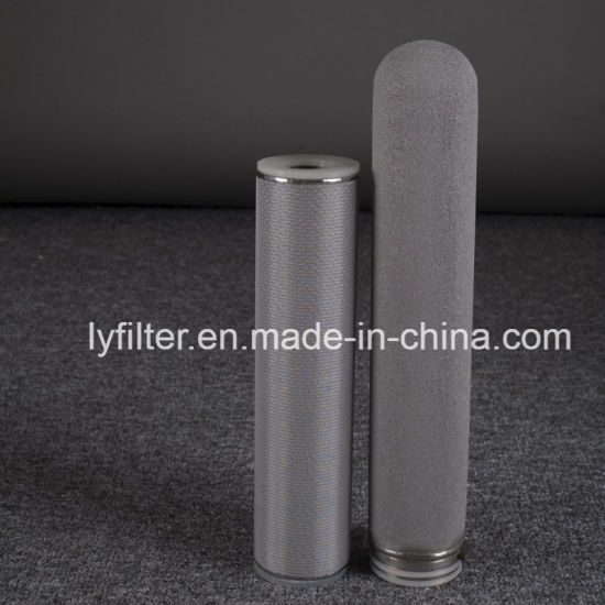 1 5 10 Micron Stainless Steel Titanium Porous Micro Wire Mesh Powder Metal Sintered Candle Filters Element