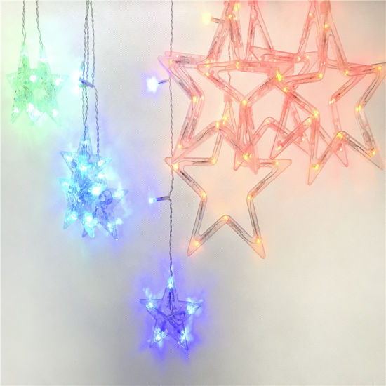 Holiday Wedding Decoration Color Changing Big Five-Pointed Star RGB LED Stirp Light