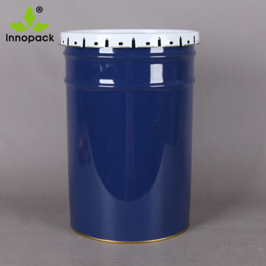 China 22 Liter 6 Gallon Rust - Proof Metal Bucket with Lid