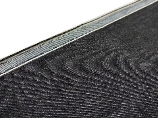 12.3oz High Quality Black Elastic Denim Fabric Women's Raw Selvedge Denim W93429